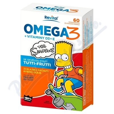 The Simpsons Omega 3+vitam. D,E cps.60