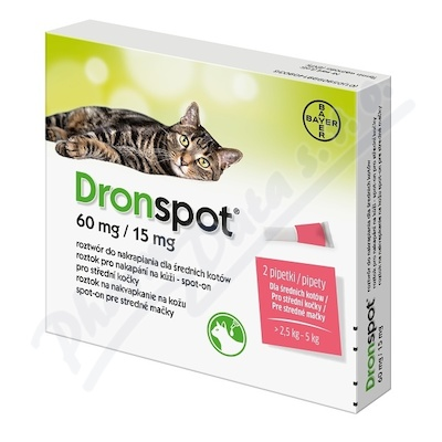 Dronspot 60mg/15mg stredni kocky spot-on
